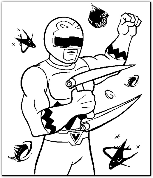 Desenho Para Colorir Power Ranger
