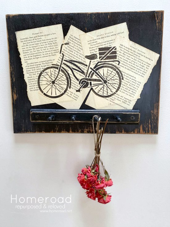 Stenciled Bicycle image herb and flower drying rack