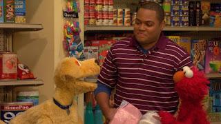 Chris, Brandeis, Elmo, Sesame Street Episode 4307 Brandeis Is Looking For A Job