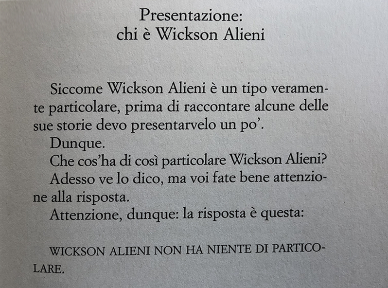 tre casi per l investigatore wickson alieni