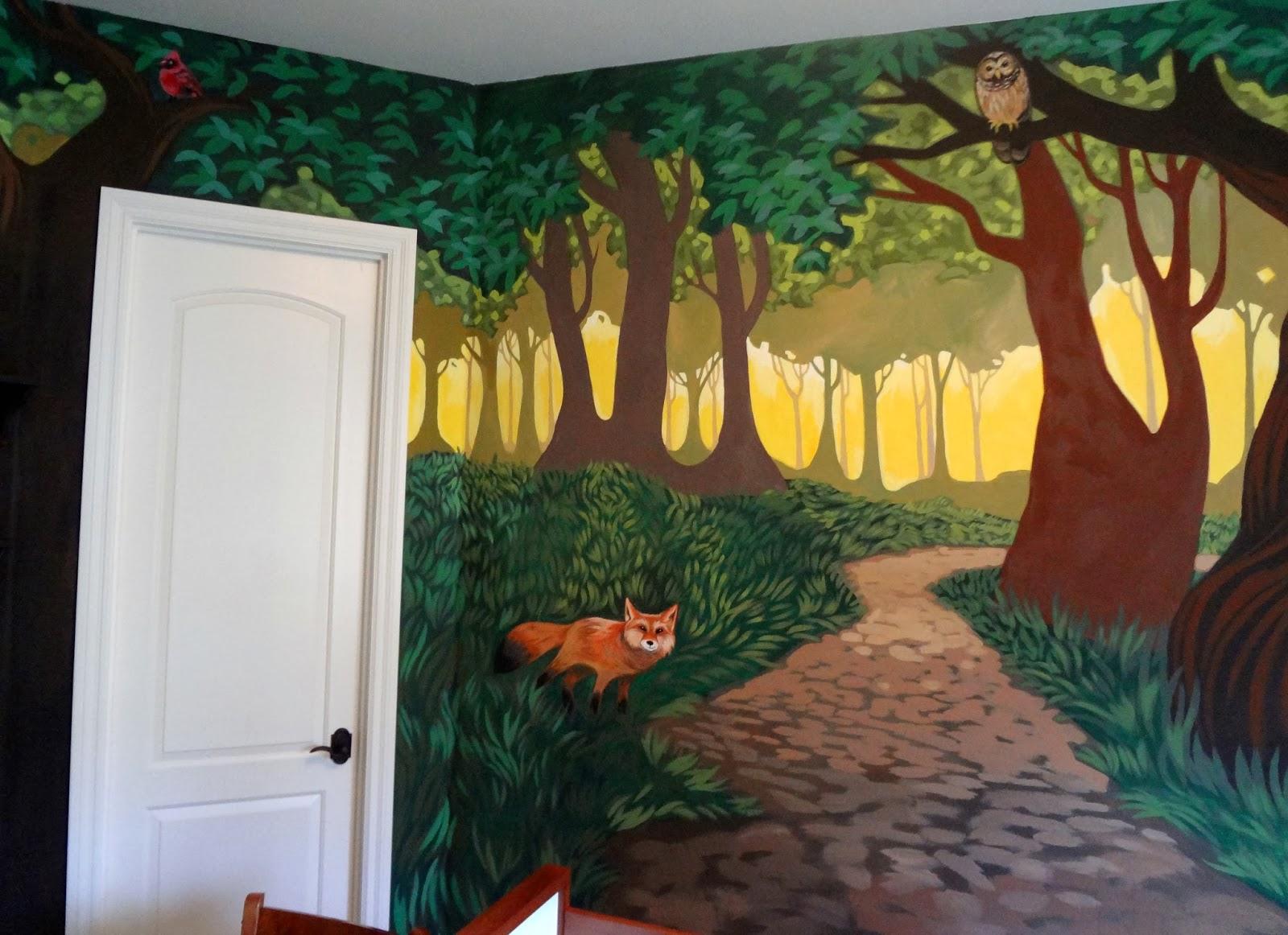 The Talking Walls: Fantastical Forest Nursery Mural... D.O