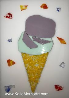 Ice cream cone design made of glass