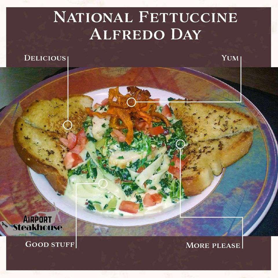 National Fettuccine Alfredo Day Wishes Beautiful Image