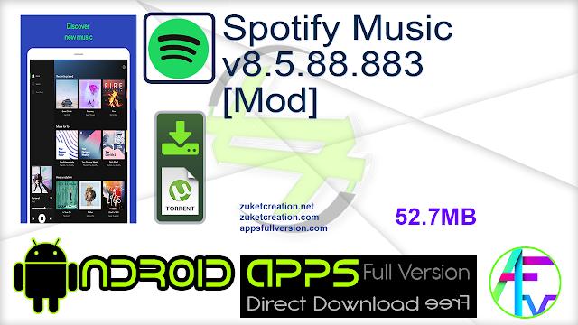 Spotify Music v8.5.88.883 [Mod]