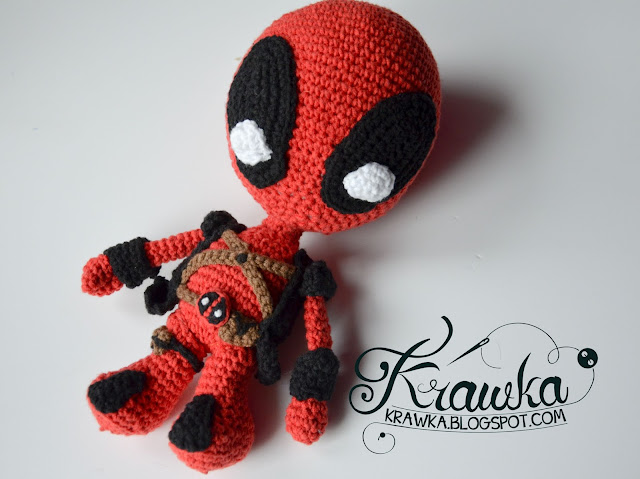 Krawka: Deadpool superhero / villain Marvel comic / movie crochet pattern by Krawka
