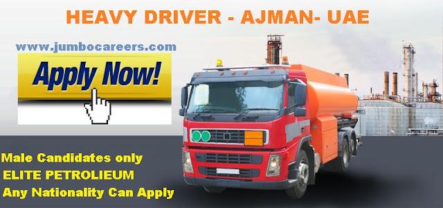 Heavy Driver Job Vacancy for Petroleum Company in Ajman UAE 2018