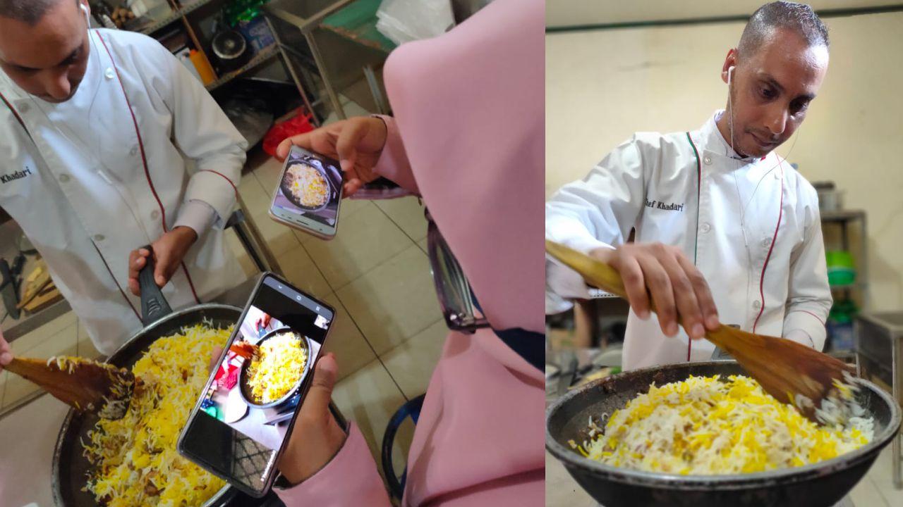 Kelas kursus memasak online zoom youtube UMKM MAPAN Depok bersama chef Youssef