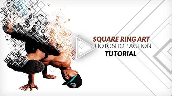 Square Ring Art Photoshop Action