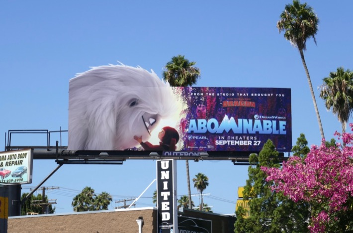 Abominable cutout billboard
