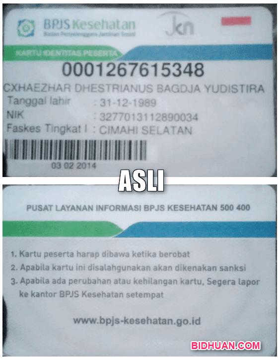KARTU BPJS ASLI