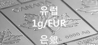 오늘 유럽 은 1 그람(g) 시세 : 99.99 은(銀) 1 그람 (1g) 시세 실시간 그래프 (1g/EUR 유로)