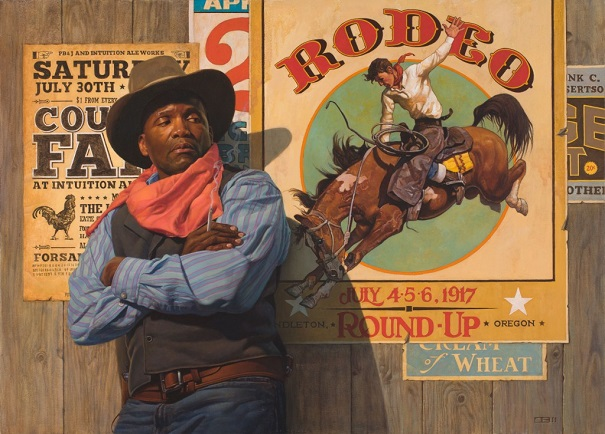 "by Thomas Blackshear, ""Rodeo Poster"" - oil 