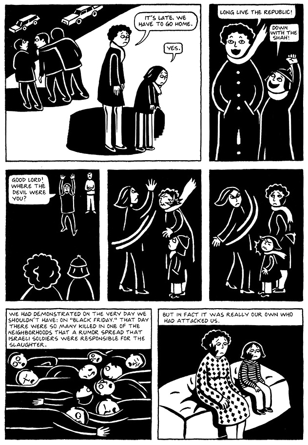 Read Chapter 5 - The Letter, page 37, from Marjane Satrapi's Persepolis 1 - The Story of a Childhood