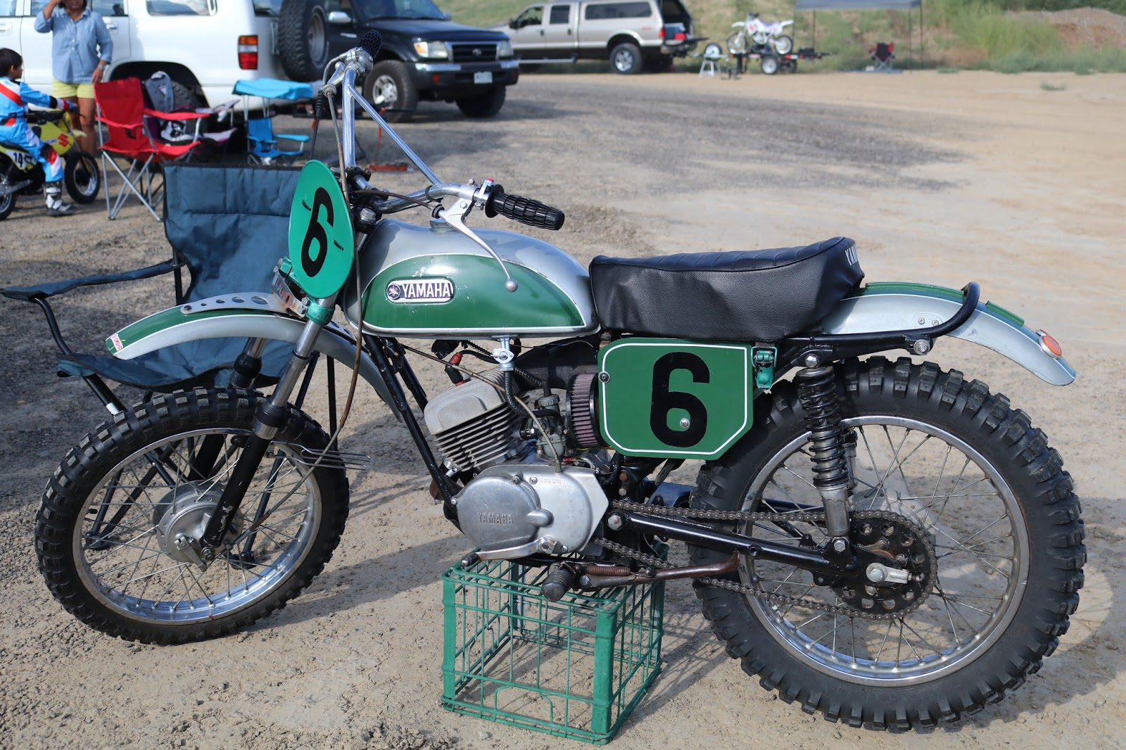 oldmotodude yamaha enduro 6 at the rocky mountain vintage mx berthoud co. Black Bedroom Furniture Sets. Home Design Ideas
