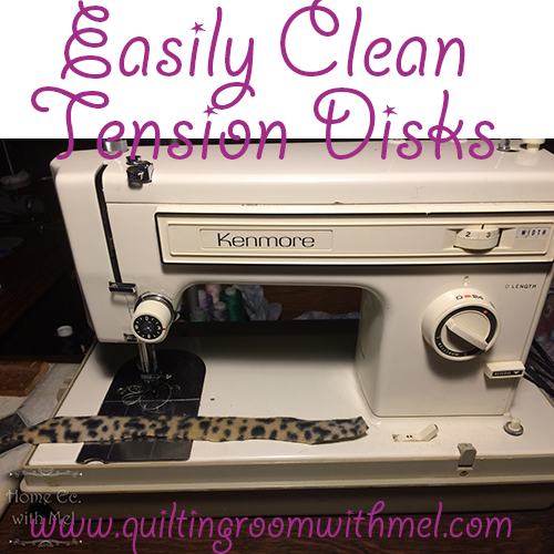 How To Quickly Clean Tension Disks - The Quilting Room with Mel