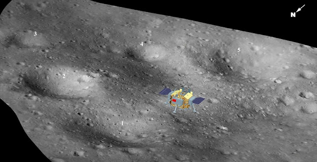 Three-dimensional landscape map of the CE-4 landing site (Image by NAOC)