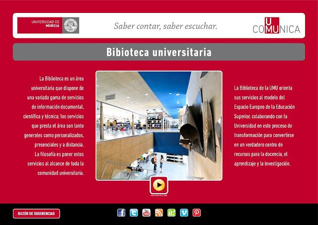 La Biblioteca Universitaria en UMU-Comunica.