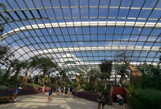 Gardens by the Bay o Jardines de la Bahía. Flower Dome o Cúpula de las Flores. Singapur o Singapore.