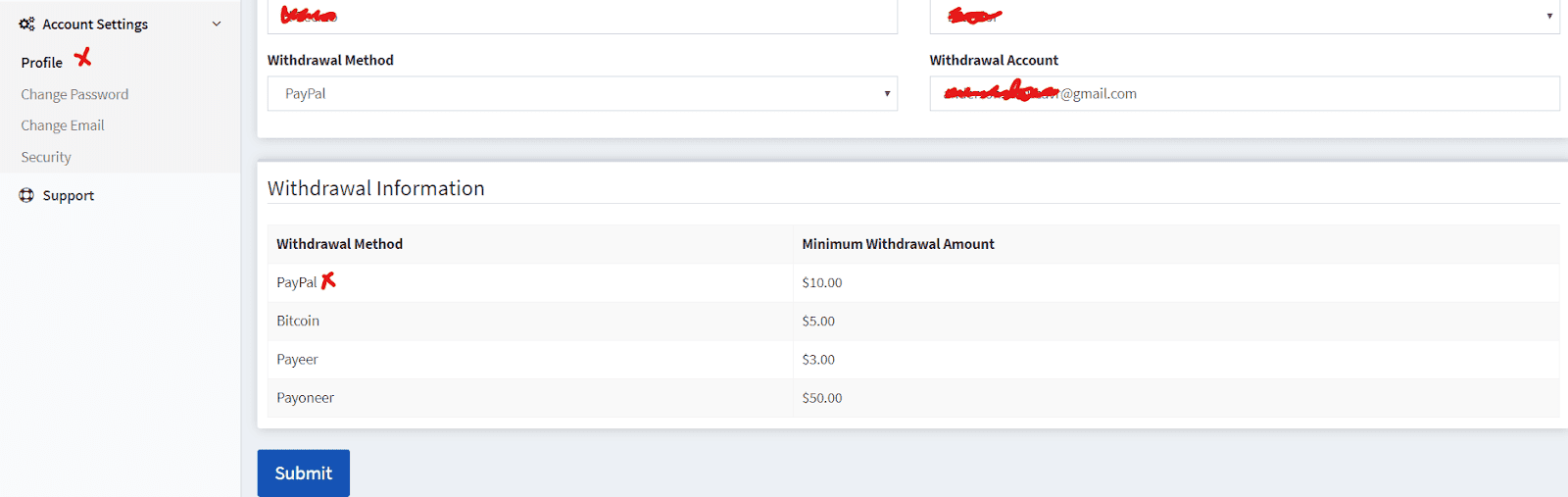 como configurar tu perfil de pago