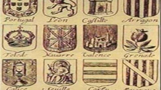 Dónde está el escudo de Cataluña en este grabado de 1663