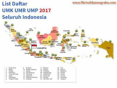 Daftar UMR 2017 Seluruh Indonesia