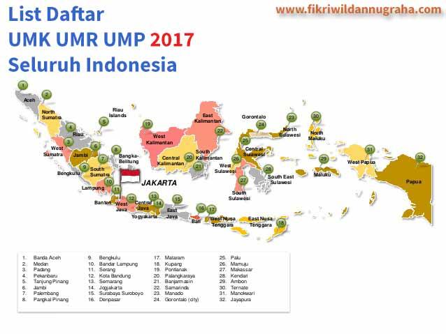 Daftar Gaji UMK UMR UMP 2017 list info upah seluruh indonesia lengkap perbedaan minimum regional kota provinsi kabupaten karyawan jawa barat timur tengah update terbaru 2018 2019