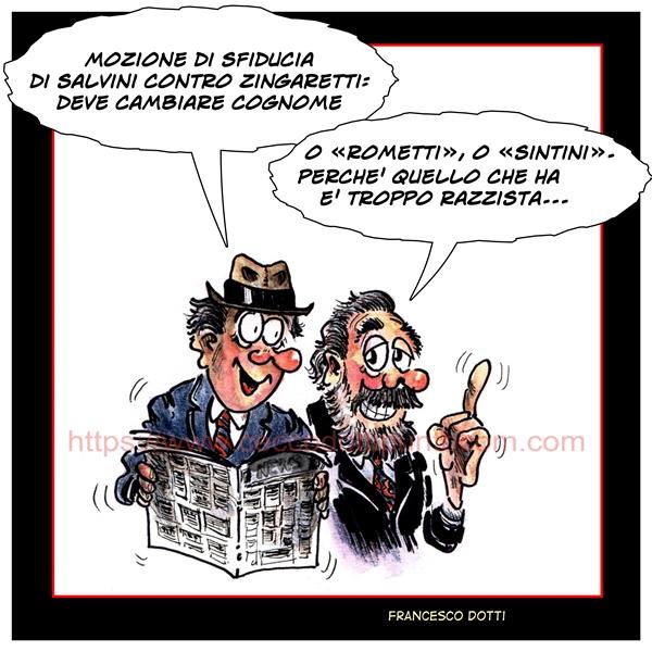 Zingaretti sfiducia Salvini