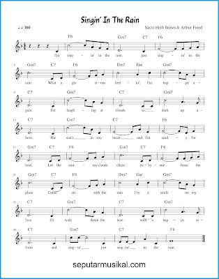 Singin 'in the Rain chords jazz standar