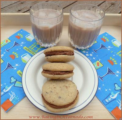 Mudslide Sandwich Cookies | Recipe developed by www.BakingInATornado.com | #recipe #cookies