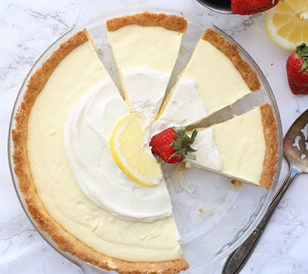 KETO LEMON SOUR CREAM PIE #healthy #lowcarb
