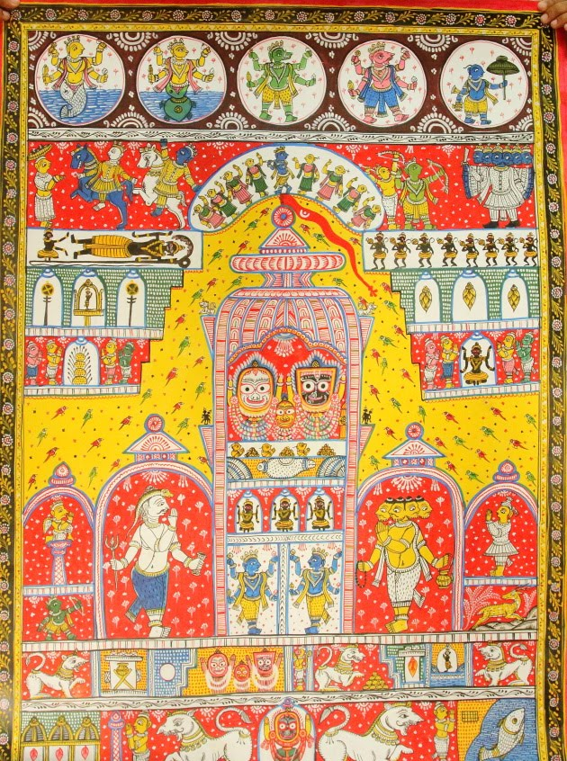 One of the ancient Patta Chitra creations of Raghurajpur, Odisha - These hold heritage value