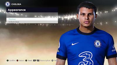 PES 2021 Faces Thiago Silva by Milwalt