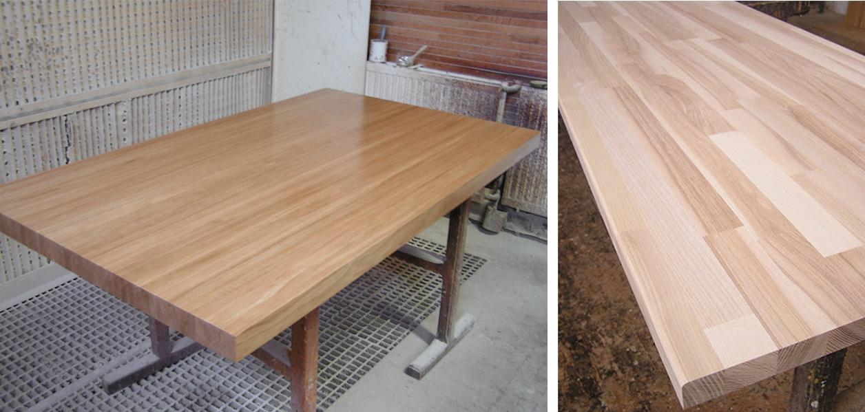 blat drewniany w kuchni