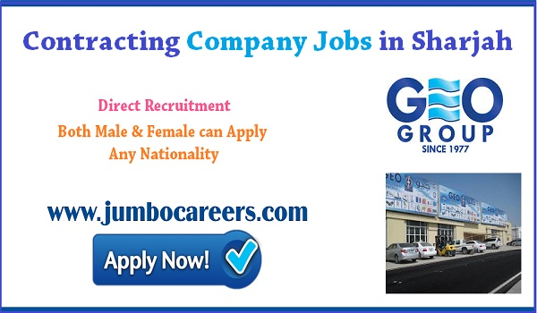 Shrajah contracting company jobs for Indians, Sales job openings in Sharjah,