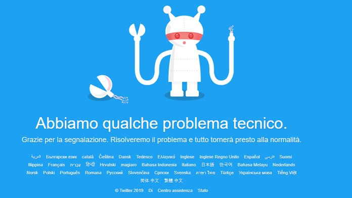 Twitter è andato in crash down