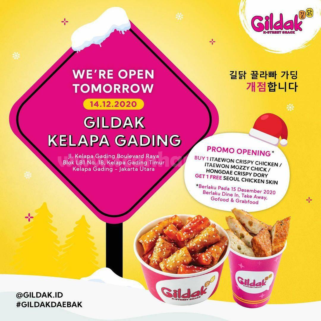Gildak Kelapa Gading Opening Promo Beli 1 Gratis 1