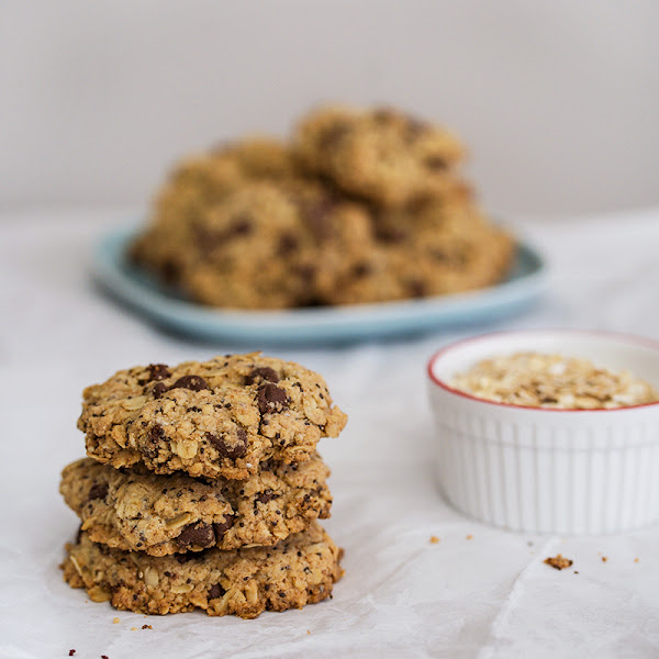 Lactation Cookies (Chocolate Chip Oatmeal Cookies)