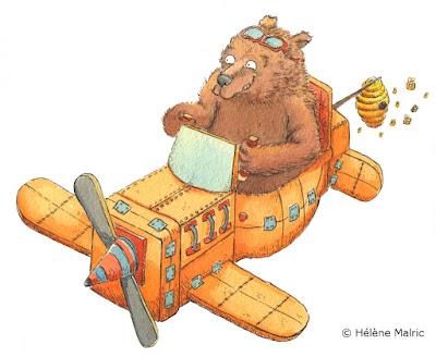 ours avion faire-part naissance