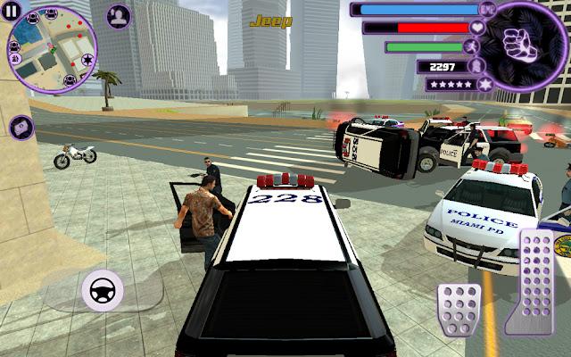 تعرف على اللعبة الشهيرة Miami Crime Simulator 2 المشابهة للعبة GTA بكل مميزاتها لهواتف الأندرويد