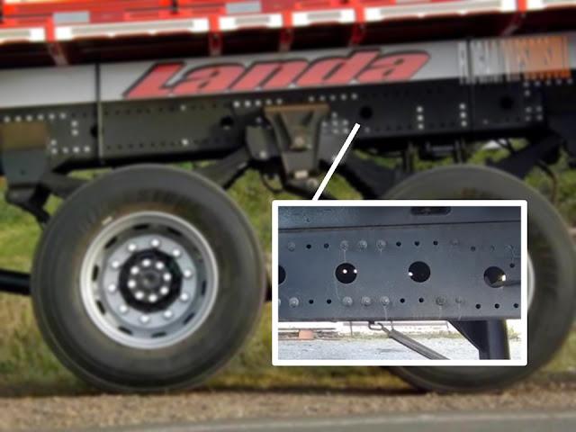 caminhao, carreta, chassi, furos, para que, por que o chassi do caminhão é furado, serve, quebra, quebrando, no meio, carreta, flogão, flogao, elite