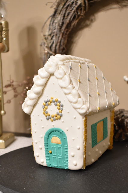 Sugar Cookie House Gingerbread house made from scratch with royal icing