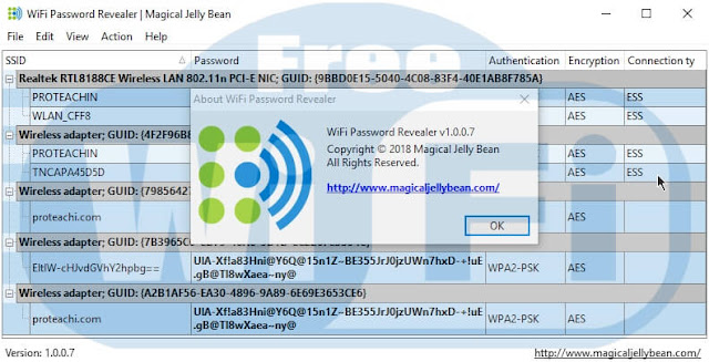 برنامج WiFi password revealer