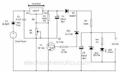 Skema rangkaian Solar Charger Circuit