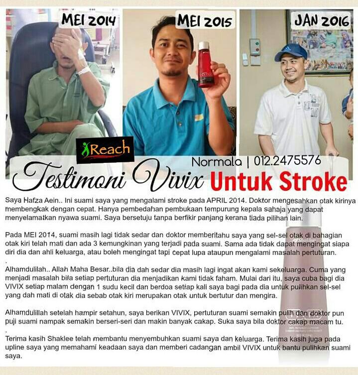 Image result for testimoni stroke pulih selepas amalkan vivix