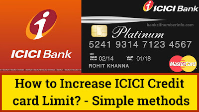 How to Increase ICICI Bank Credit card limit