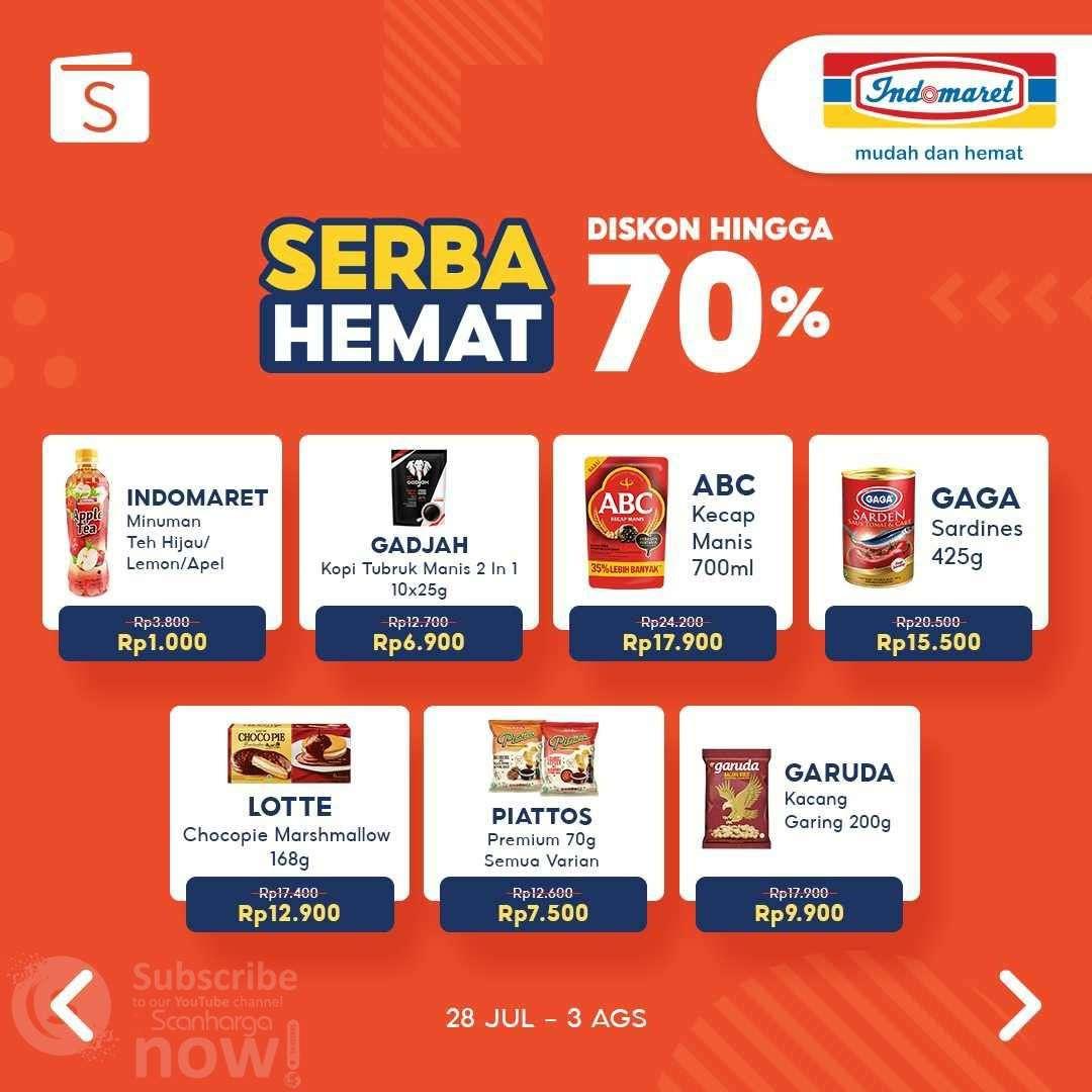 Indomaret  Promo Serba Hemat ShopeePay Diskon hingga 70%