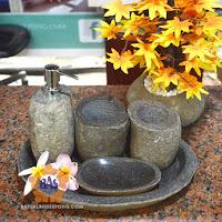 tempat sabun batu, soap dispenser batu alam