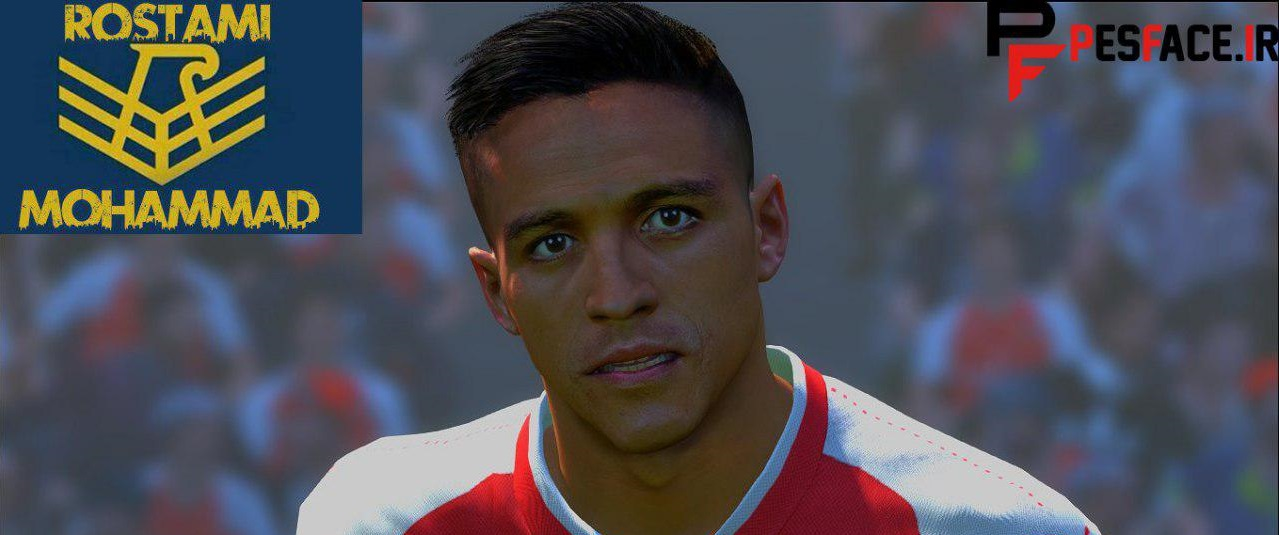 PES 2017 Alexis Sanchez New Face And Hair By Mohammad Rostami