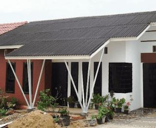 Atap rumah pakai asbes merupakan 1 pilihan yang lebih hemat dan murah.