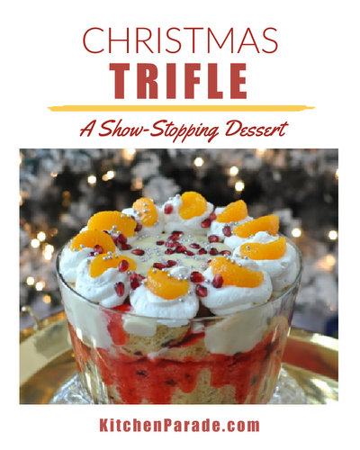 Christmas Trifle ♥ KitchenParade.com, a show-stopping English trifle, my family's traditional dessert for Christmas dinner.